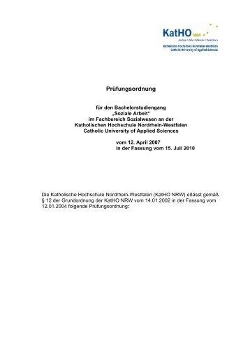 Pruefungsordnung Soziale Arbeit B.A. (pdf, 95.3 kb) - Katholische ...