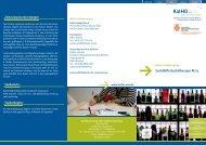 Suchthilfe M.Sc. - Katholische Hochschule Nordrhein-Westfalen