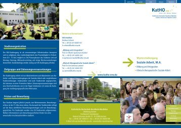 Soziale Arbeit, M.A. - Katholische Hochschule Nordrhein-Westfalen