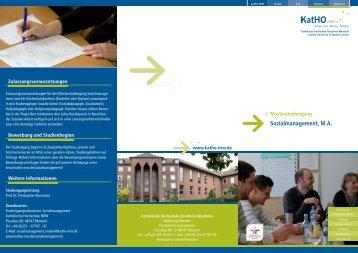 Flyer - Katholische Hochschule Nordrhein-Westfalen