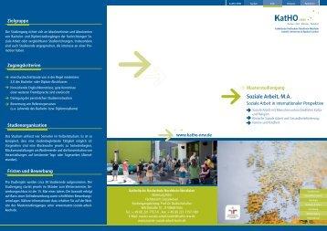 Flyer zum Studiengang (pdf, 1.8 mb) - Katholische Hochschule ...