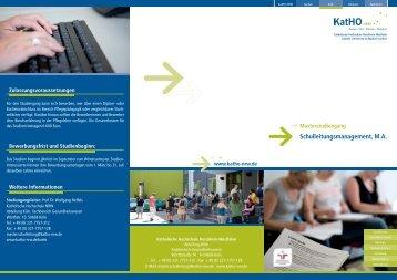 Schulleitungsmanagement, MA - Katholische Hochschule Nordrhein ...