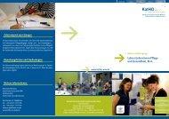 Lehrer/Lehrerinnen Pflege und Gesundheit, M.A. - Katholische ...