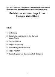 Bericht zur sozialen Lage in der Euregio Maas-Rhein - Katholische ...