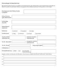 Personalbogen für Professuren