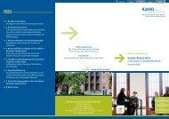 Flyer des Masterstudiengangs