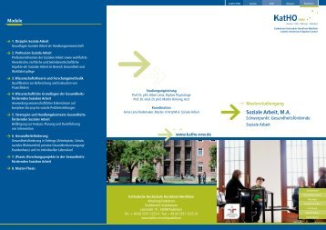 "Flyer des Masterstudiengangs ""Gesundheitsfördernde Soziale Arbeit"""