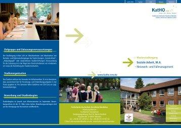 Soziale Arbeit, M.A. Netzwerk- und Fallmanagement - Katholische ...
