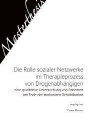 Die Rolle sozialer Netzwerke im Therapieprozess von ...