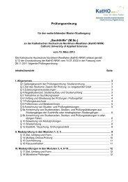 Prüfungsordnung - Katholische Hochschule Nordrhein-Westfalen
