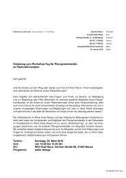 Einladung zum Workshop-Tag für Pfarrgemeinderäte zu ...