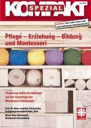 Pflege – Erziehung – Bildung und Montessori - Katholische ...