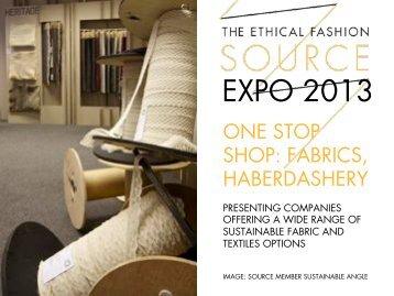 SOURCE EXPO 2013 One Stop Shop: Fabrics