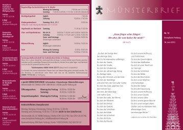 Münsterbrief 12-2013 - Stadtdekanat