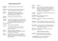 Frauengemeinschaft St. Urban - Jahresprogramm 2013