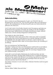 Ministrantenplan 29.04.2011 bis 03.07.2011
