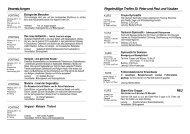 Veranstaltungen Regelmäßige Treffen St. Peter und Paul und ...
