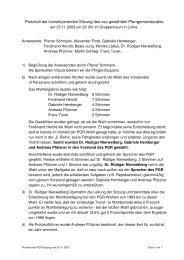 Protokoll der PGR-Sitzung vom 25.11.03 - Katholische Kirche ...