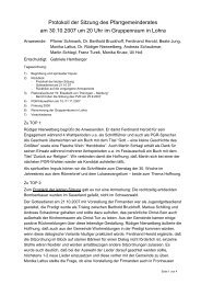 Protokoll der PGR-Sitzung vom 30.10.07 - Katholische Kirche ...