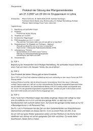 Protokoll der PGR-Sitzung vom 21.03.07 - Katholische Kirche ...