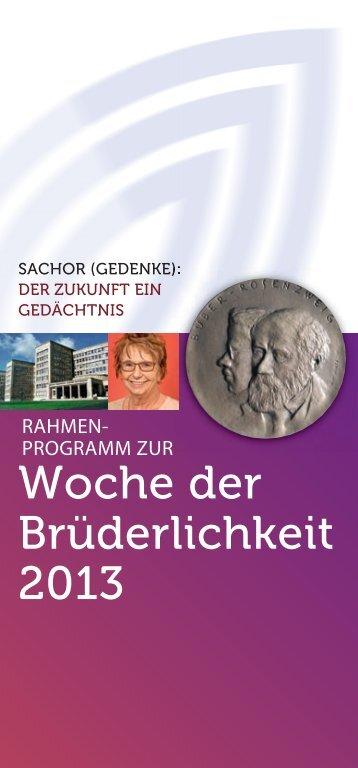 Woche der Brüderlichkeit 2013 - Gesellschaft für Christlich-Jüdische ...