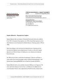 Kurzvita Stephan Balkenhol, Abschluss-Pressekonferenz STEPHAN ...