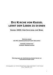 Zukunftskonzept: Die Kirche von Kassel lernt dem Leben zu dienen ...