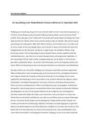 Zur Ausstellung in der Elisabethkirche in Kassel eröffnet am 21 ...