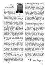 Pfarrbrief zu Advent und Weihnachten 2009 - Kath. Pfarrgemeinde ...