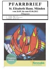 Pfingsten 2012_korr - Katholische Pfarrgemeinde St. Elisabeth