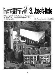 Ausgabe 4 2013 vom 25.August - Katholische Kirche Neubrandenburg