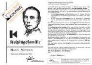 "September bis Dezember 2013 Mit einem kräftigen ""Treu Kolping !"""