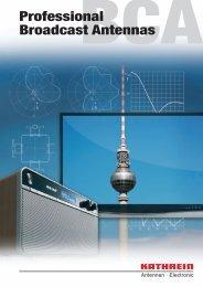 Druckschrift 99811574, Professional Broadcast Antennas - Kathrein