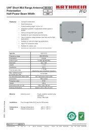 UHF Short Mid Range Antenna Polarization Half-Power Beam Width