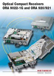 99811500; Optical Compact Receivers - ORA 9022-1G and ORA ...