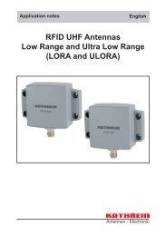 9363832, Application notes RFID UHF Antennas LORA and ULORA