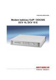 DCV 10,10E Instrukcja - KATHREIN Poland sp. z oo