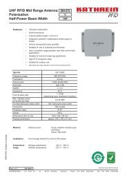 UHF RFID Mid Range Antenna Polarization Half-Power Beam Width