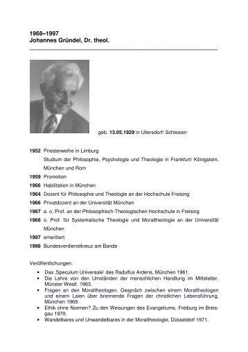 Biografie - Katholisch-Theologische Fakultät