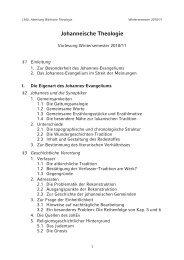 Johanneische Theologie - LMU
