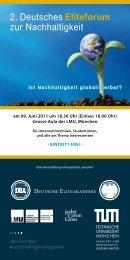 2. Deutsches Eliteforum zur Nachhaltigkeit - LMU