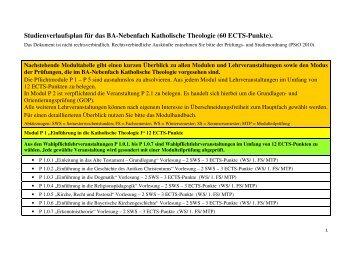(60 ECTS-Punkte). - Katholisch-Theologische Fakultät