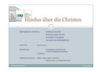 Hindus über die Christen