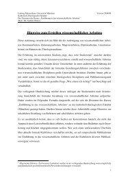 Hinweise zum Erstellen wissenschaftlicher Arbeiten - Katholisch ...