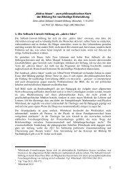 "1. Die Selbach-Umwelt-Stiftung als ""aktive Idee"" - LMU"