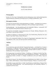 Monographien Herausgeberschaften Aufsätze 2014 - Katholisch ...