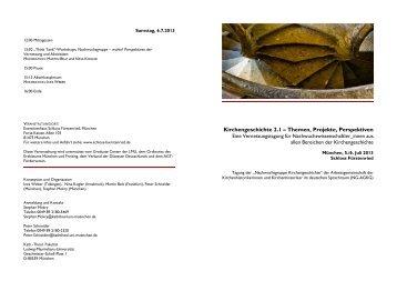 Programm der Tagung - Katholisch-Theologische Fakultät - LMU