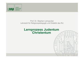 Lernprozess Judentum Christentum