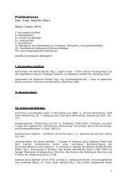 Publikationen Mokry - Katholisch-Theologische Fakultät