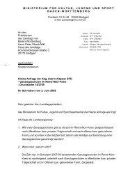Kleine Anfrage der Abgeordneten Katrin Altpeter SPD